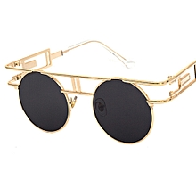 8a3c1256ad6 Vintage Gothic Steampunk Sunglasses Men Retro Round Metal Frame Circle Sun  Glasses For Women Unisex Uv400