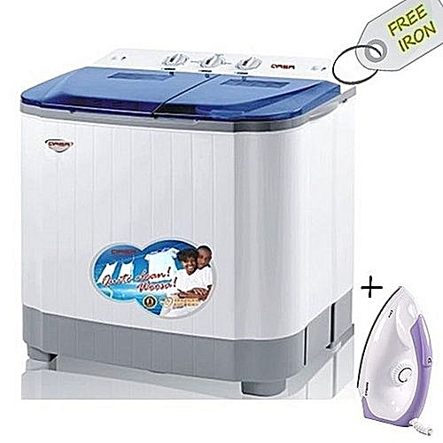 Washing Machine 8.8kg + Free Iron