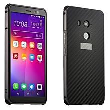 HTC U11 Plus Case Luxury Metal Bumper + Brushed Hard Plastic Back Cover 2 In 1