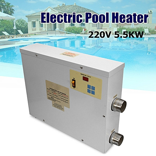 5.5KW Electric Swimming Pool SPA Thermostat Heater Temperature Controller 220V White