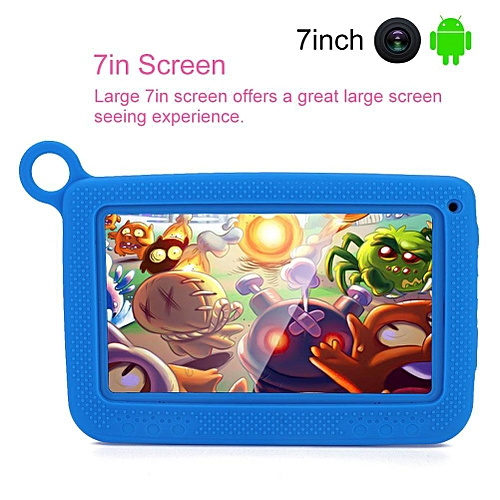 7IN 1026 X 600 Tablet Bluetooth WiFi Kids Learning Tablet 512M+8GB + Protective Cover AU Plug