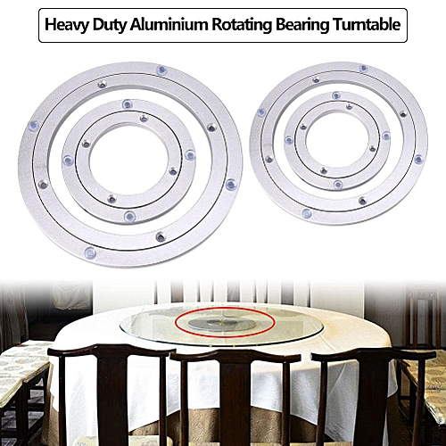 Heavy Duty Aluminium Alloy Rotating Bearing Turntable Round Table Smooth Swivel Plate (10 Inch)