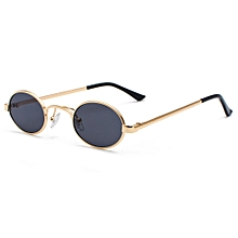 aaf7610b2f68 Oval Sunglasses Men Round Metal Frame Small Women Uv400 - Gold Black