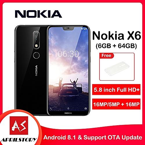 X6 5.8-Inch FHD+ (6GB, 64GB ROM) Android 8.1 Oreo, 16MP + 16MP, 3060mAh, Dual SIM 4G LTE Smartphone - Black