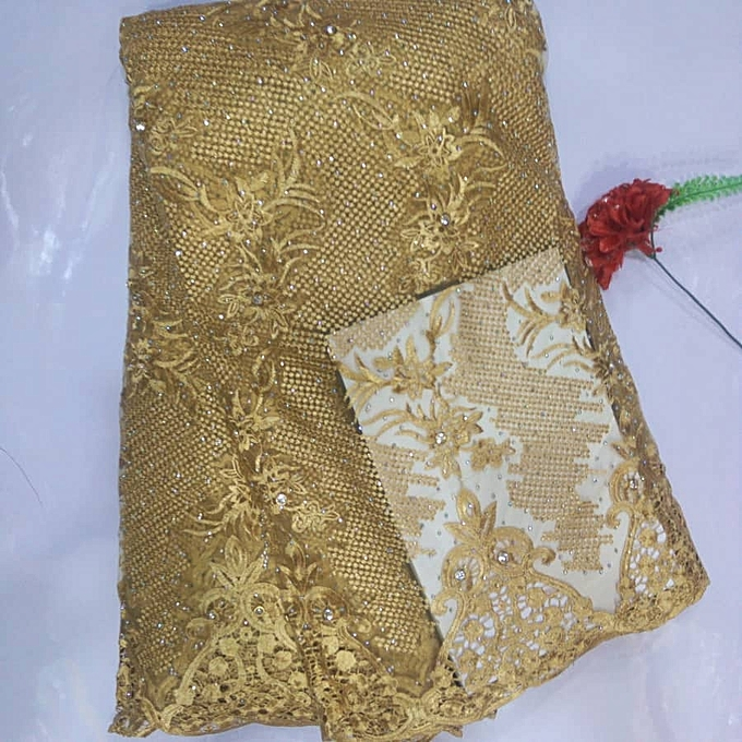 Fashion Tulle Lace - Gold- 5 Yards