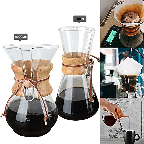 Japanese Hand Drip Pot Dripper V60 Pour Over Coffee Maker