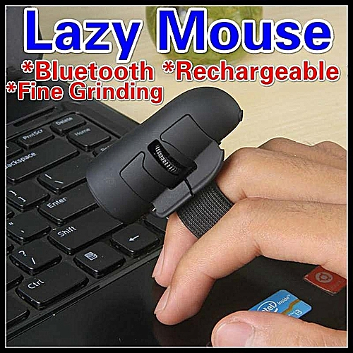 Great 3D Lazy Finger Wearable Smart Mouse Bluetooth + Rechargeable Optical + Fine Grinding Support Windows/IOS/Android