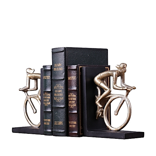Retro Decorative Bookends Books Support Bookshelf Bookend Living Room Softcover Resin