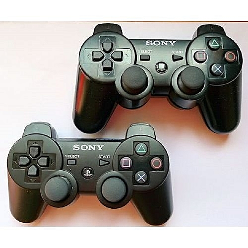 2pcs PS3 DualShock 3 Wireless Controllers Pads For Official PlayStation 3 - Black