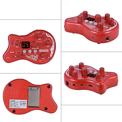generic ammoon pockrock portable guitar multi effects processor effect pedal 15 effect types 40. Black Bedroom Furniture Sets. Home Design Ideas