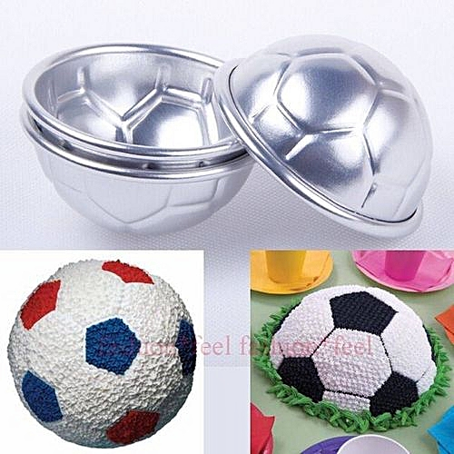 2Pcs Football DIY Cake Baking Mold