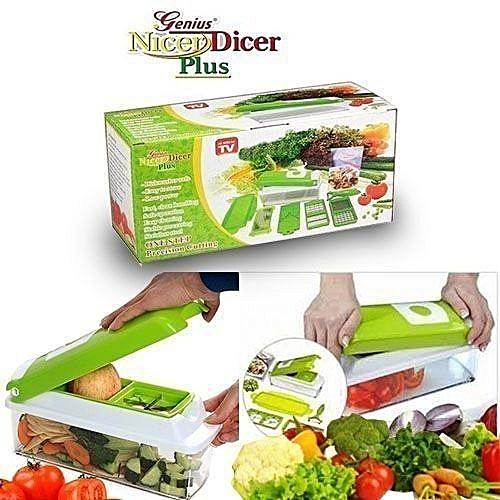 Nicer Dicer Vegetable Fruits Multi-Chopper Set Multi Chopper Vegetable  Cutter Fruit Slicer Peeler