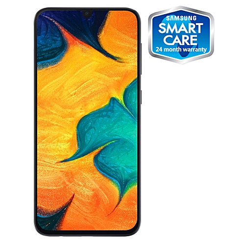 Galaxy A30 6.4-Inch (4GB RAM, 64GB ROM) Android 9.0 Pie, (16MP + 5MP) + 16MP 4G LTE Smartphone - Blue (MW19)