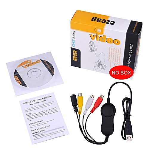 Ezcap158 USB Audio Video Capture,Analog Video Recording For XBOX PS3 VHS Windows MAC Win10 OBS Vmix Better Than Ezcap 1568 172