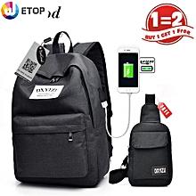 29c324d050c4d9 Teen Backpack Bag Shoulder Bag - Lightweight Canvans Cute 2 PCS Set With  School Backpack And