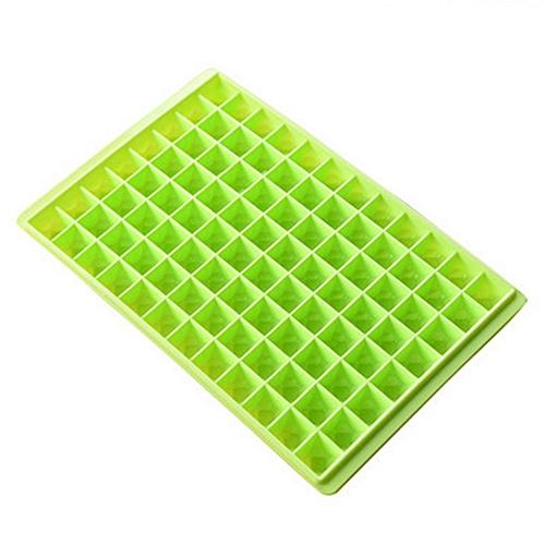 96 Grids Diamond Shape Ice Cube Tray - Green