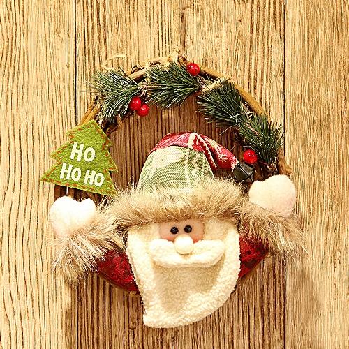 Merry Christmas Party Poinsettia Pine Wreath Door Wall Garland Decoration Wannag
