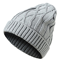 c758a956b5e Mens Ladies Knitted Woolly Winter Oversized Slouch Beanie Hat Cap Gray