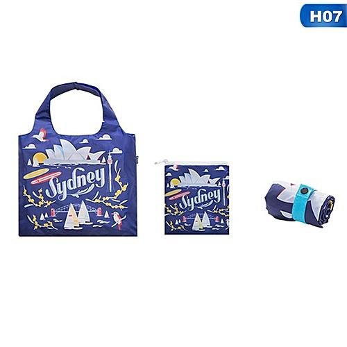 Eco Friendly Shopping Bags Waterproof Travel Custom Reusable Handbag Women Shoulder Cloth Pouch Foldable H07