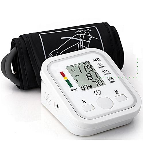 Automatic Digital LCD Upper Arm Cuff Blood Pressure Heart Beat Pulse Monitor