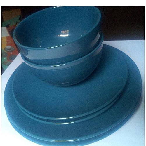 6 Pieces Dinner Set - Blue