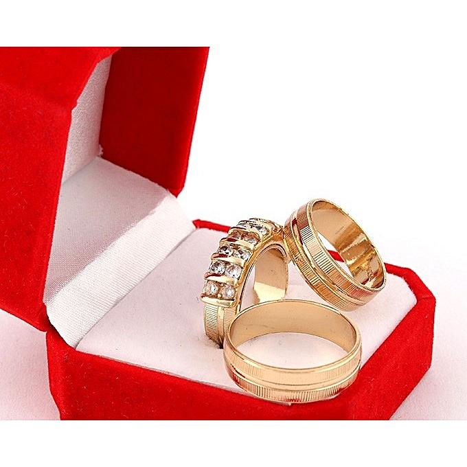 395ee27590d61 Rommanel Wedding Ring Set 18 Karat Gold Plated G8