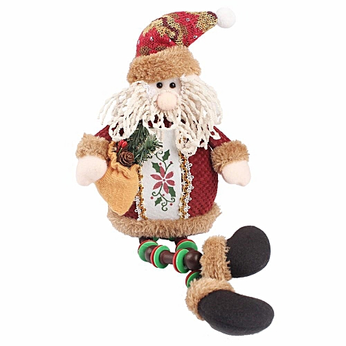 Sitting Santa Claus Doll Christmas Gift Toys Decoration Xmas Tree Hanging Party Ornaments Pendant ,1#