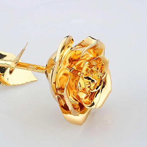 24K Gold Rose, Premium Long Stem Dipped Flower Gift For Her, Made Of Fresh Rose, Last Forever Mother's/Thanksgiving/Christmas/Valentine's/Birthdays Party/Graduations/Weddings