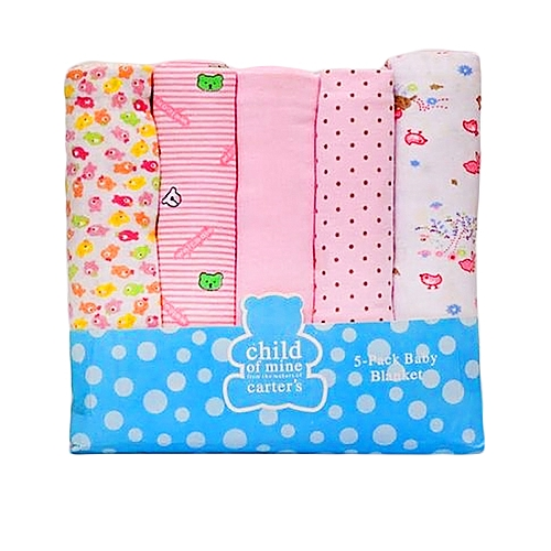 carter 5-in-1 Pack Baby Receiving Blankets