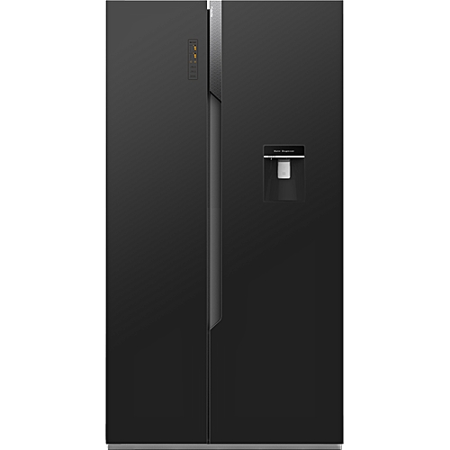514L Side By Side Refrigerator With Water Dispenser -REF67WSBG-Black Glass