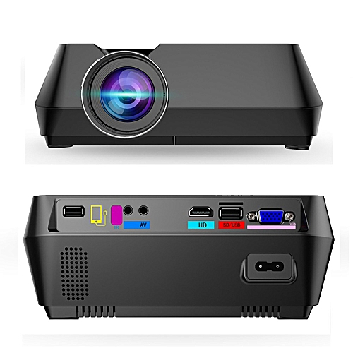 S8 Wired Portable LED Mini Projector Projector Screen More S