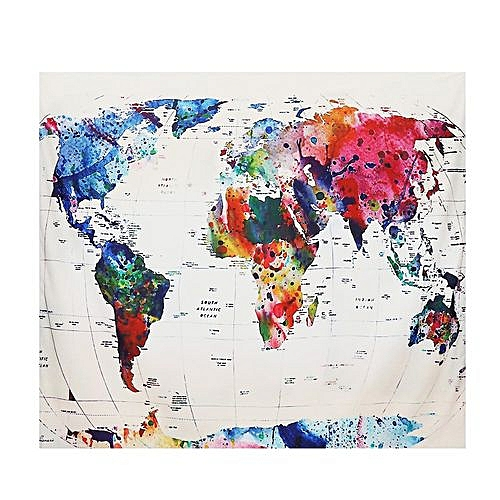 World Map Tapestry Wall Hanging Beach Towel Cushion Home Decor