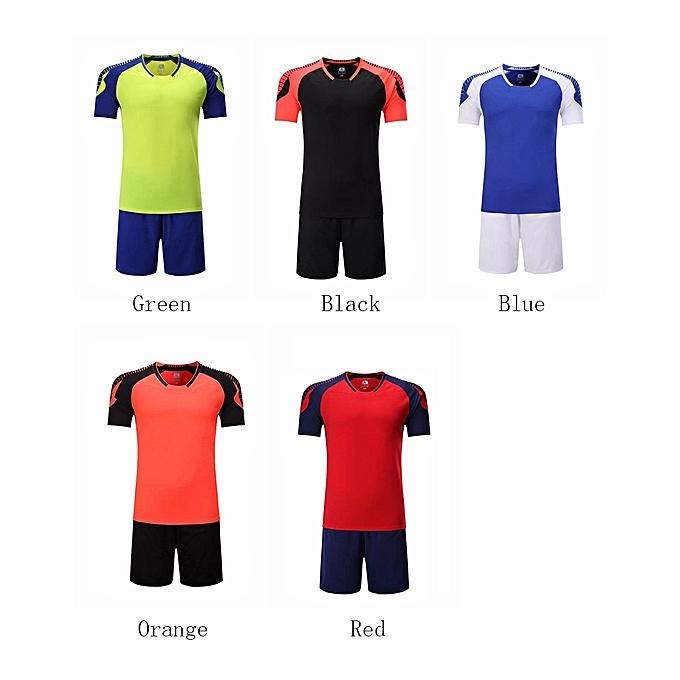 0f7fc10bc ... Men O-neck Soccer Jerseys Uniforms Set Short Sleeve New Style-Red ...