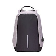 Multi-function Large Capacity Travel Anti-theft Security Casual Backpack Laptop Computer Bag With External Usb Charging Interface For Men / Women, Size: 42 X 25 X 23 Cm(grey)