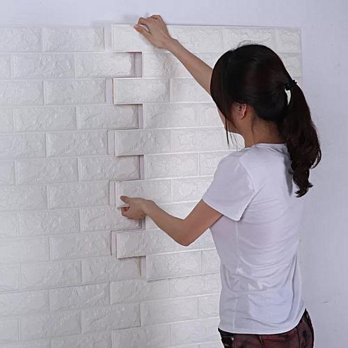 3D Stereo Wall Stickers Manufacturers Wholesale Foam Wallpaper Stickers Waterproof Anti-moisture Anti-moldy Brick Wallpaper Self-adhesive Background Wall