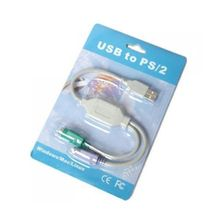 Dual PS2 Female To USB Male Converter Adaptor Cable For Laptop / Notebook