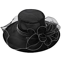 3175e71802c Women Elegant Organza Church Cap Party Wedding Hat Sun Hat