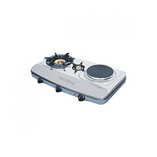 Table Top Gas Cooker 2 Gas Burner And 1 Hot Plate