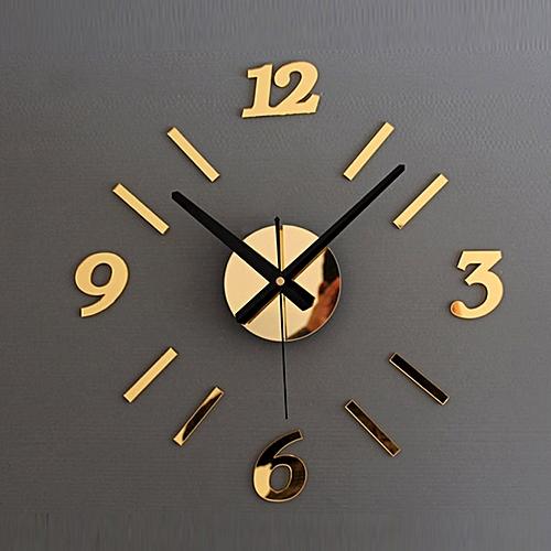 DIY Wall Clock 3D Mirror Surface Sticker Home Office Decor Clock GD