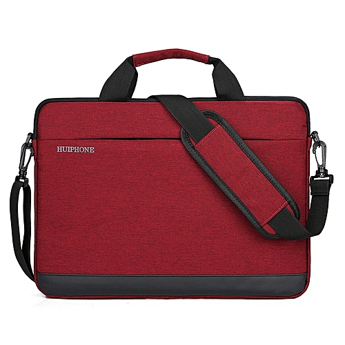 11 Inch Men's Business Laptop Bag Lady Shoulder Notebook Bag-red