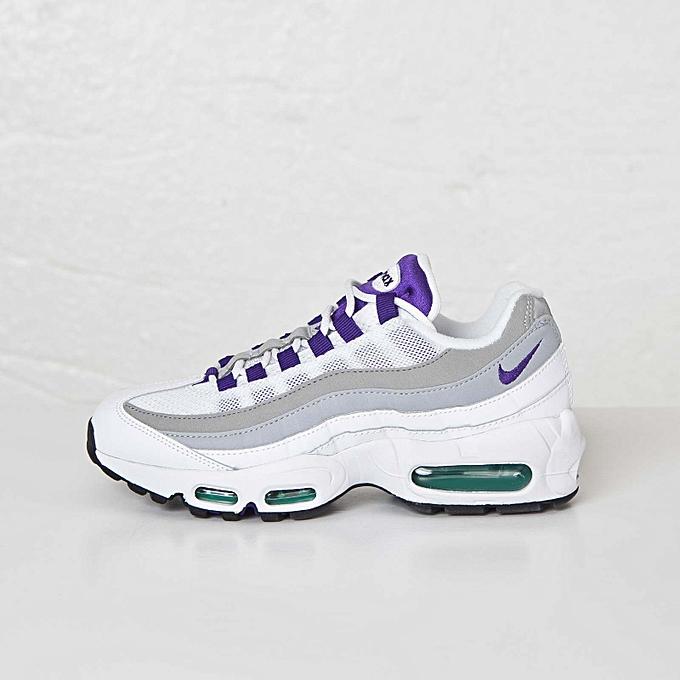 new arrivals 682fe 42950 Nike Retro Air Max 95 White Purple Grey 307960-101 EU36-44