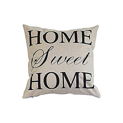 Square Shape Sweet Home Inspired Throw Pillow