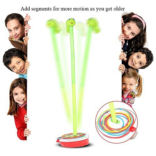 【Happy Education】Wobbly Insect Swaying Game Family Children Twisting Turning Worm Hoop Rings Toy For Xmas Gift