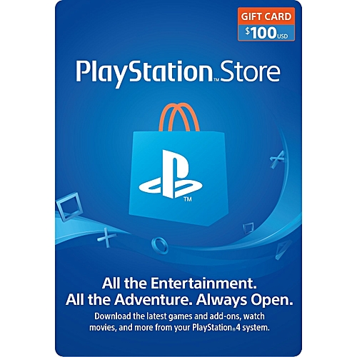 PlayStation PSN Store $100 Gift Card For PS3/PS4/PSvita