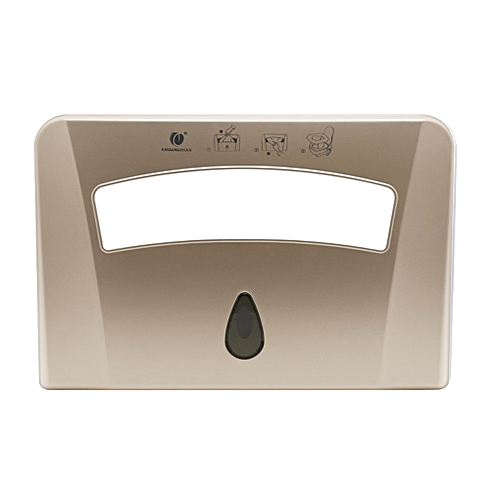 1/2 Toilet Seat Pad Paper Holder Wall Mounted Plastic Toilet Seat Cover Dispenser For Hotel