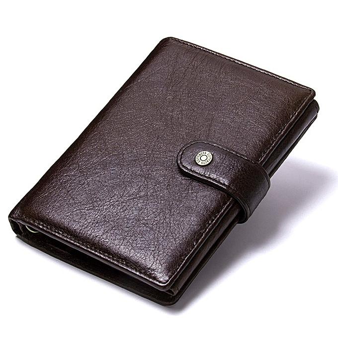 0384612e0789 Casual Genuine Leather Wallet Men Passport Holder Coin Purse PORTFOLIO MAN  Portomonee Short Wallets Passport Cover Travel Bag