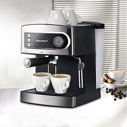 15 Bar Pump COFFEE MACHINE - Espresso Italian Style - Hot Drinks Maker 1 Year 5 Star Warranty(850W) - Black