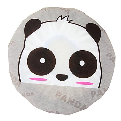 Cute Cartoon Animal Waterproof Shower Cap Resuable Lace Elastic Band Bath Hair Caps Hat Style:Panda