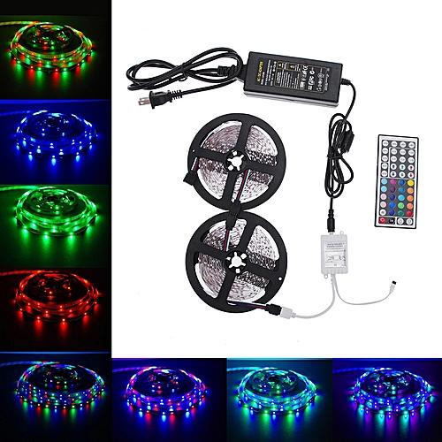 10M 600leds SMD 3528 RGB LED Light Strip+44 Key IR+12V 5A Power Supply Kit