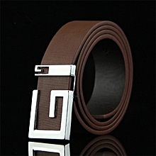 09afe1a81b4c Smooth Buckle PU Leather Waist Belt For Men And Women